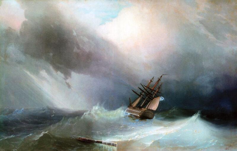 Буря на море Айвазовский