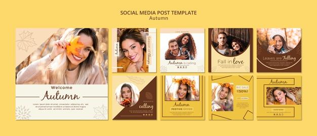 60+ PSD шаблонов Instagram для персональных постов - скачать бесплатно