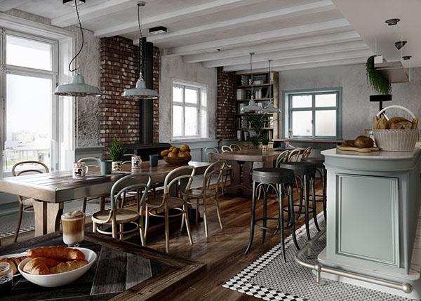 Стиль кантри в современном дизайне интерьера кафе