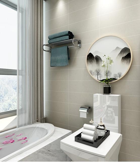 Дизайн интерьера ванной комнаты - аксессуары