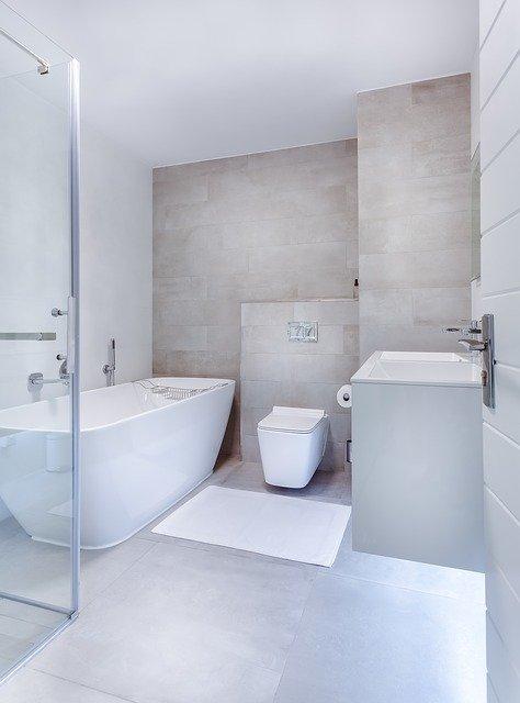 Дизайн интерьера ванной комнаты - в стиле минимализм