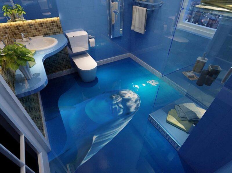 3d рисунки в дизайне ванной комнаты