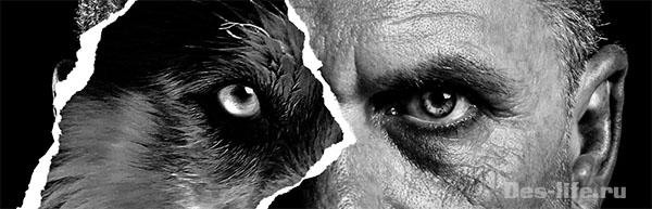 черно-белый арт на рваной бумаге в Photoshop