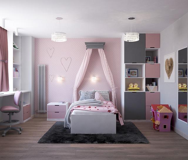 детская комната в современном стиле для девочки