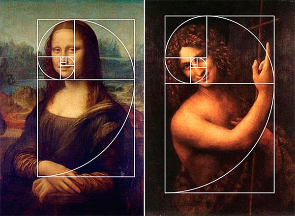 правило золотого сечения в работах Леонардо Давинчи