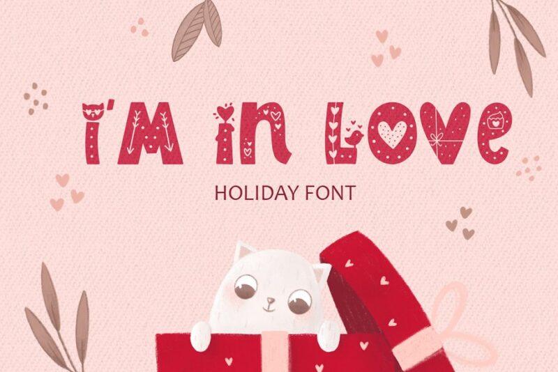 I Am In Love Font (латиница + кириллица)