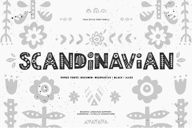 Scandinavian Font Family (латиница + кириллица)