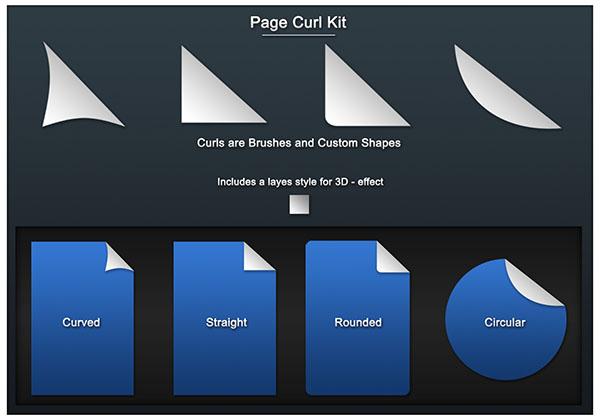 Загнутый уголок бумаги - Photoshop урок, шаблоны, кисти