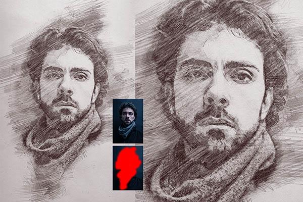 Тренды в дизайне фотографии - карандашный рисунок