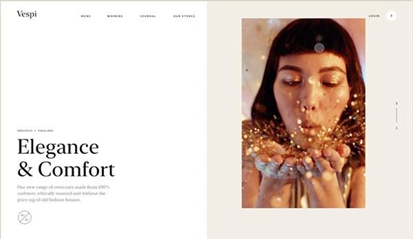 пример дизайна сайта в Figma