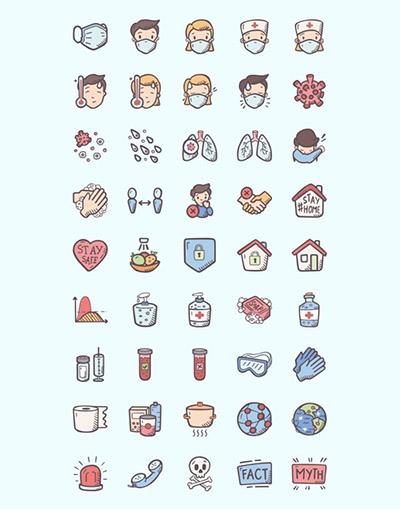 Бесплатные элементы дизайна по медицине и коронавирусу