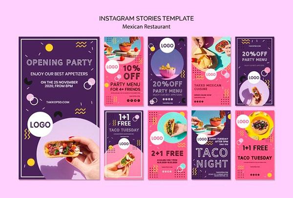 Бесплатные PSD шаблоны для коммерческих постов Instagram