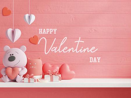 Бесплатные шаблоны на день святого Валентина - открытка