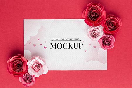 Бесплатные шаблоны на день святого Валентина - мокап