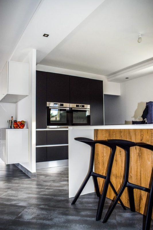 Кухня в стиле хай-тек + лофт