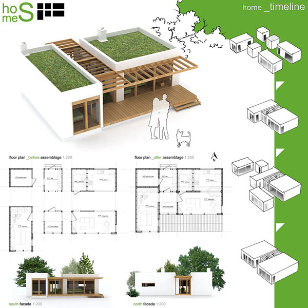 Дизайн дома из морских контейнеров