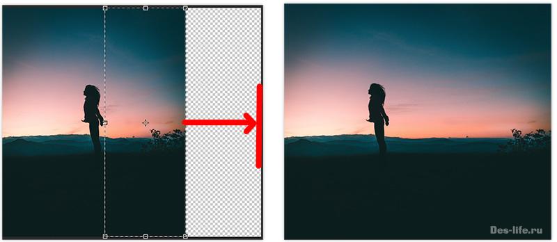 Как увеличить фон без потери качества в Photoshop