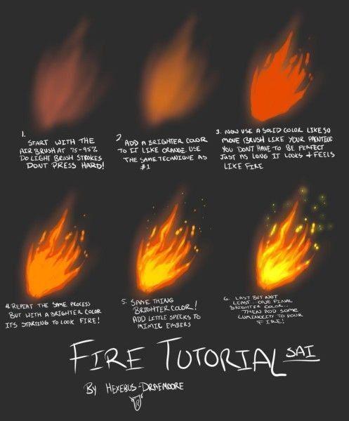 Как рисовать огонь в Photoshop