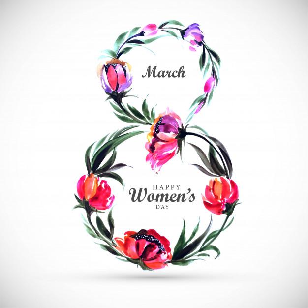 Идеи и шаблоны открыток на 8 марта