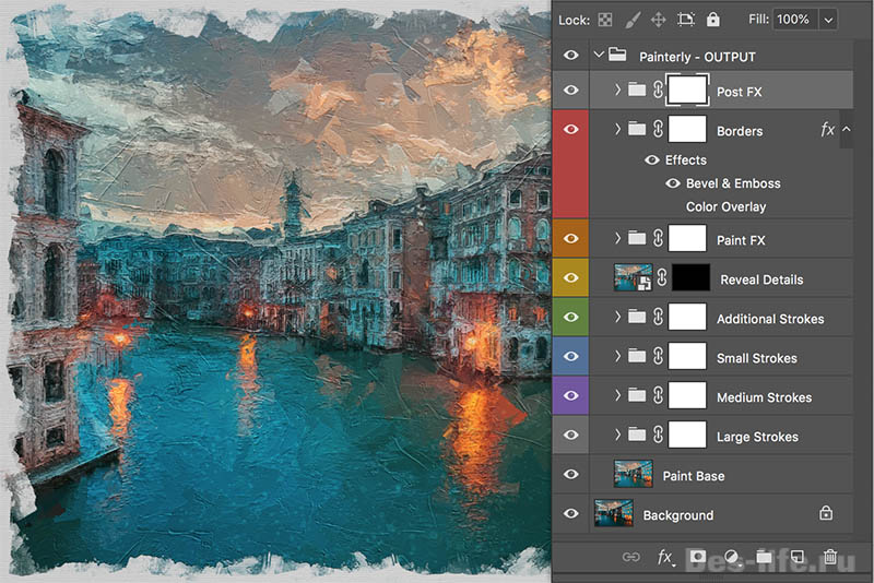 Обработка фото в стиле импрессионизм – бесплатный Action от Adobe