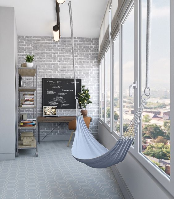 Дизайн интерьера балкона или лоджии