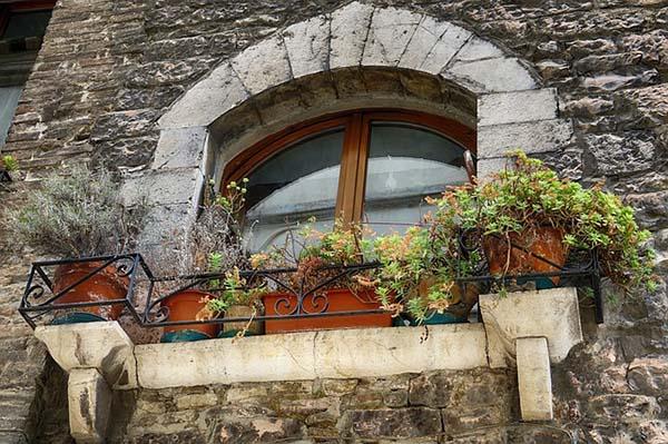 балкон в тосканском стиле