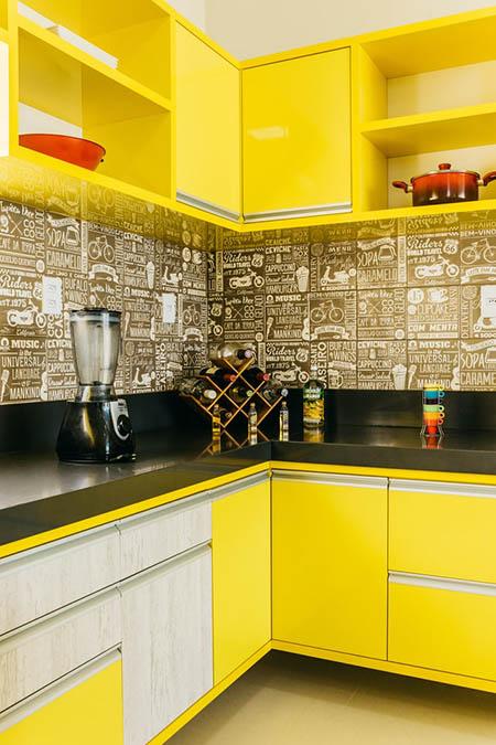 Дизайн кухни 12 кв.м. - хай-тек