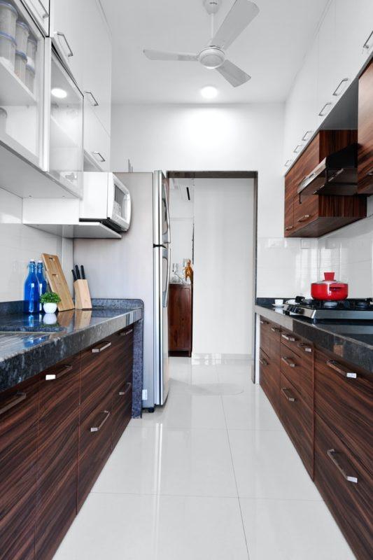 Дизайн кухни 12 кв.м. - двухлинейная планировка