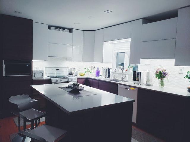 Дизайн кухни 12 кв.м. - островной тип планировки