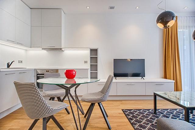 Дизайн кухни 12 кв.м. - зонирование с гостиной