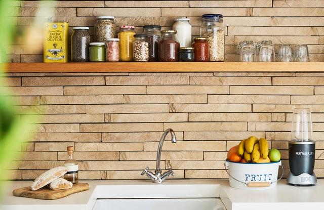 Дизайн кухни 12 кв.м. - открытая система хранения