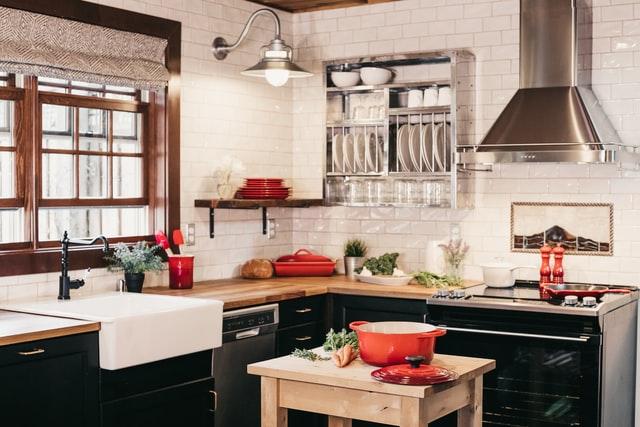 Дизайн кухни 12 кв.м. - лофт и скандинавский стиль