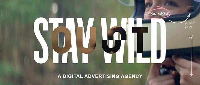 Крупная типографика - новый тренд в креативном веб дизайне