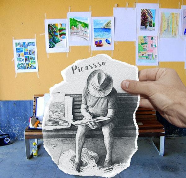 Набросок карандашом по фото - бесплатный̆ Photoshop Action