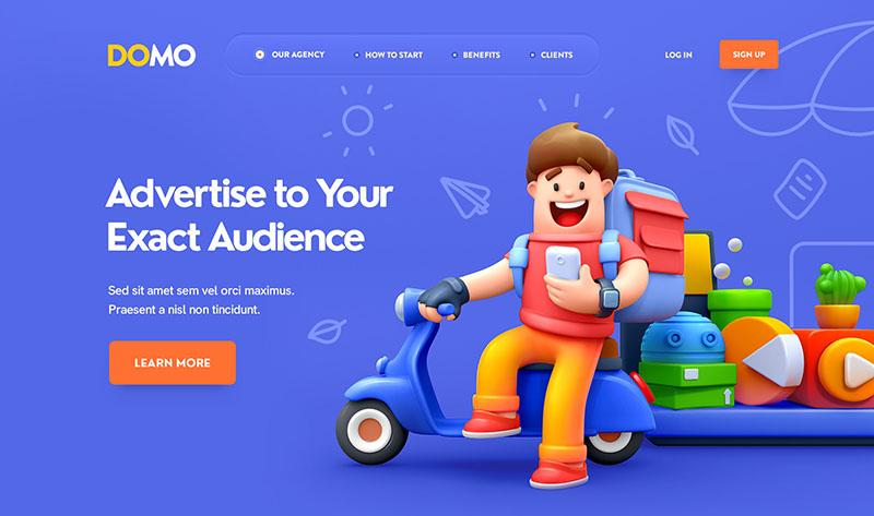 дизайн сайта в рисованном (эскизном) стиле
