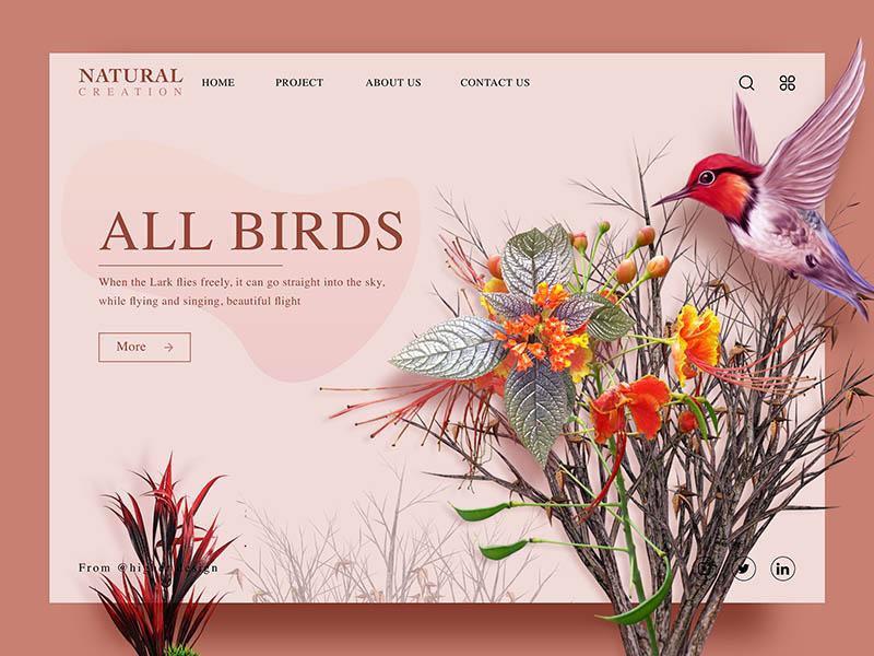 дизайн сайта в стиле organic&natural