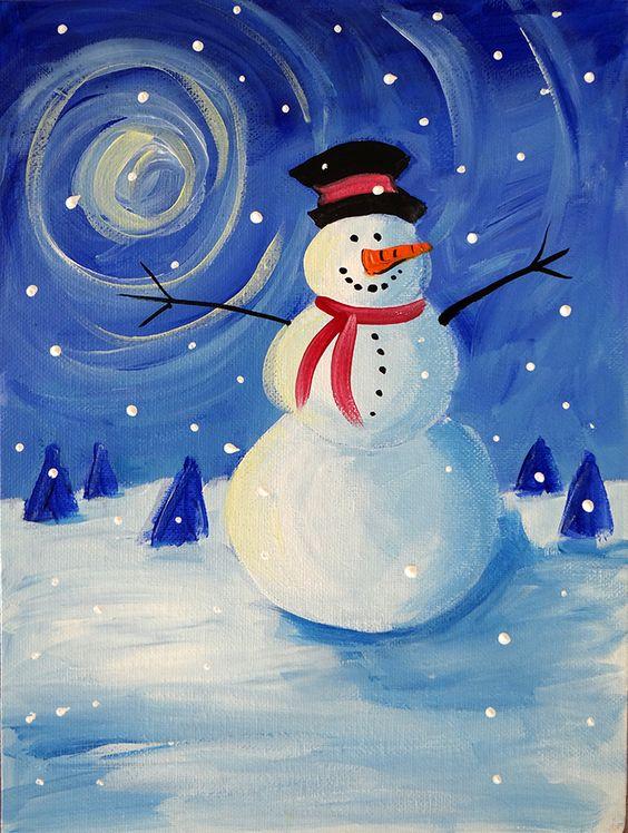 Правополушарное рисование – секреты, мифы, уроки - снеговик