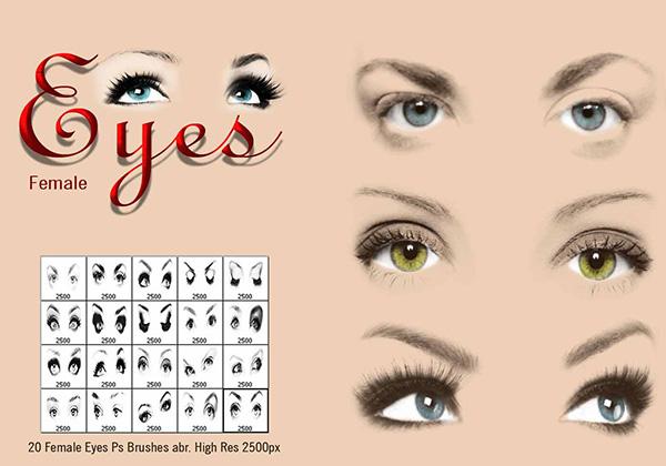 ТОП 20 кистей для ретуши портретов в Photoshop - глаза