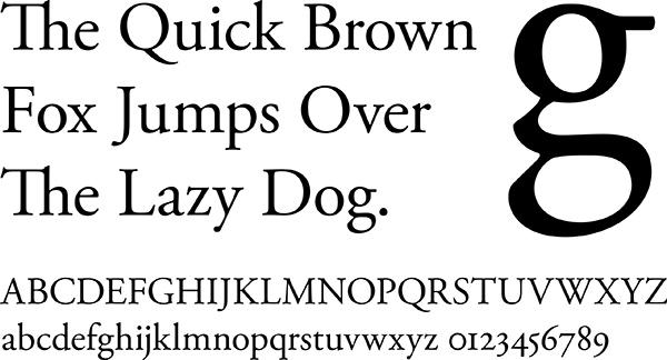 Типографика шрифт антиква