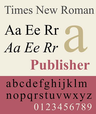 типографика times new roman
