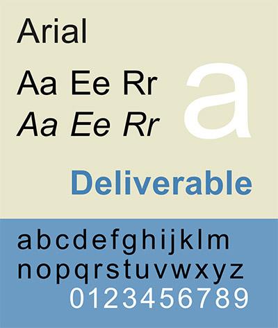 типографика arial